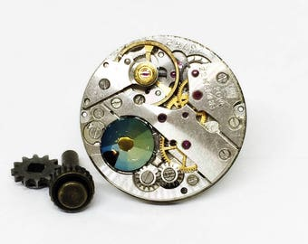 Steampunk gift-for-men, Tie Pin for him, Steampunk Wedding, Vintage watch movement, Old watch movement, Birthday Gift, Wedding Jewelry