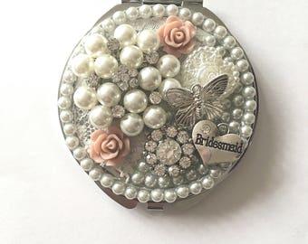 Compact Mirror Bridesmaid Gift