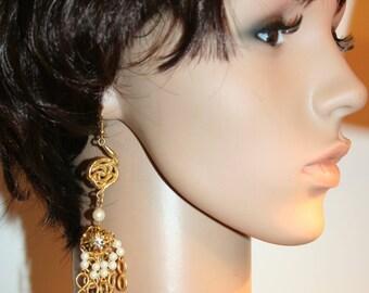 Baroque earrings - CASCADE to the flower