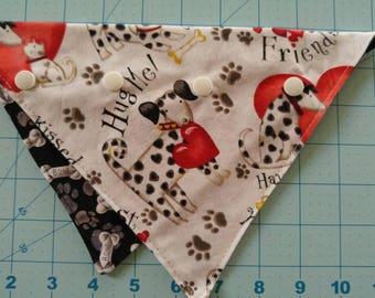 Snap-on dog bandana!