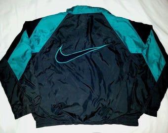 Nike Vintage Large Windbreaker Full Zip Huge Swoosh Logo Send Offer