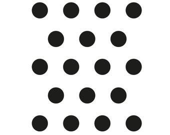 Polka-dot stickers for wall decoration and every surface - very easy to install