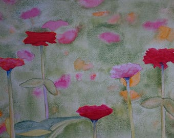 floral watercolor: wild flowers