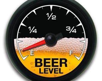 Black Beer Meter Gauge Vinyl Decal Sticker Funny Party Cooler Graphic