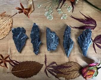 Black Kyanite Blade // Black Kyanite Fan // Black Kyanite Rough // Home Decor // Meditation // Jewellery Making // Stocking Filler
