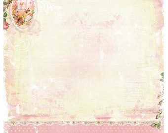 Studio Light Shabby Chic Scrapsc01 Pinks and green double sided Scrapbooking, 12 x 12 200gsm quality double sided paper,