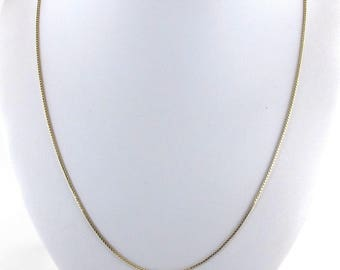 "14k Yellow Gold Box Chain - 14k Yellow Gold Box Necklace 20"" 3.4 grams"