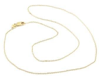 "14k Yellow Gold Cable Link Chain Necklace 16"" 18"" 20"""