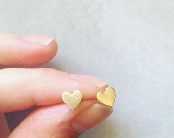 Tiny Heart shaped sumple earrings
