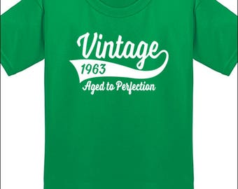 55th Birthday T Shirt Vintage 1963 T-Shirt Milestone Birthday Party Gift