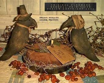 Primitive Pumpkin Pie and Pilgrim Crows Pattern