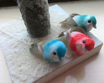 Mini Artificial Speckled Birds