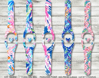 Magic Band Decal,  Lilly Pulitzer Inspired Disney MagicBand 1.0 or 2.0 Decal | Magic Band Skin | RTS Ready To Ship | Glitter MagicBand Decal