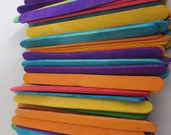 Coloured Wooden Lollipop Sticks