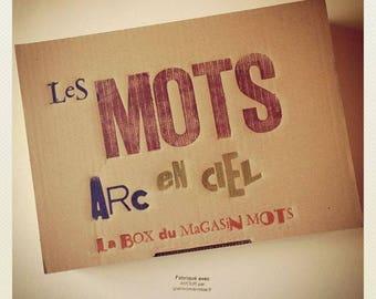 La BOX 5 du Magasin de Mots: les mots arcs-en-ciel