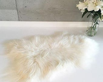 ON SALE Exclusive Genuine Natural Icelandic Sheepskin Rug, Pelt, super soft long fur  Large