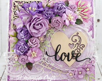 Shabby Chic Love Valentine's Day / Wedding / Engagement / Just Because Love Card