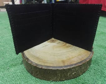Leather wallet - card holder wallet - handmade