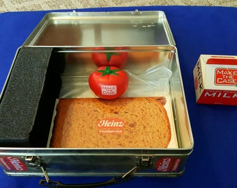 Vintage Heinz make the case lunchbox salesmen sample