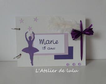 Guest book birthday dancer