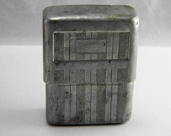 Vintage Aluminum Cigarette Case Park Sherman Co