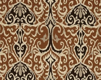 summer sale custom shower curtain winchester ikat chocolate dark brown vream black 54 x 78 long