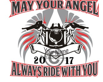 Motorcycle SVG File - Angel SVG File - Svg For Silhouette - Svg For Cricut - SCAL Cutting File