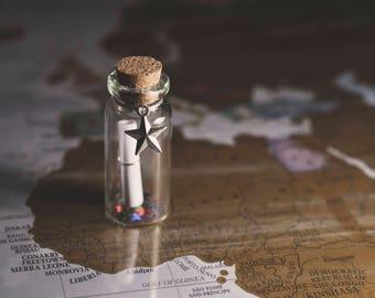 Star - Miniature Message in a Bottle