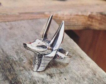 "Silver handmade ring ""Anubis"""