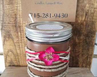 Mulled Cider and Chestnuts Scented Pint Jar Candle