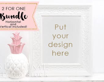 Styled Stock Frame Mockup / Frame Mockup / Blank Frame / Wall Art Display / Empty Frame / Mock up Frame / Print Display / StockStyle-865