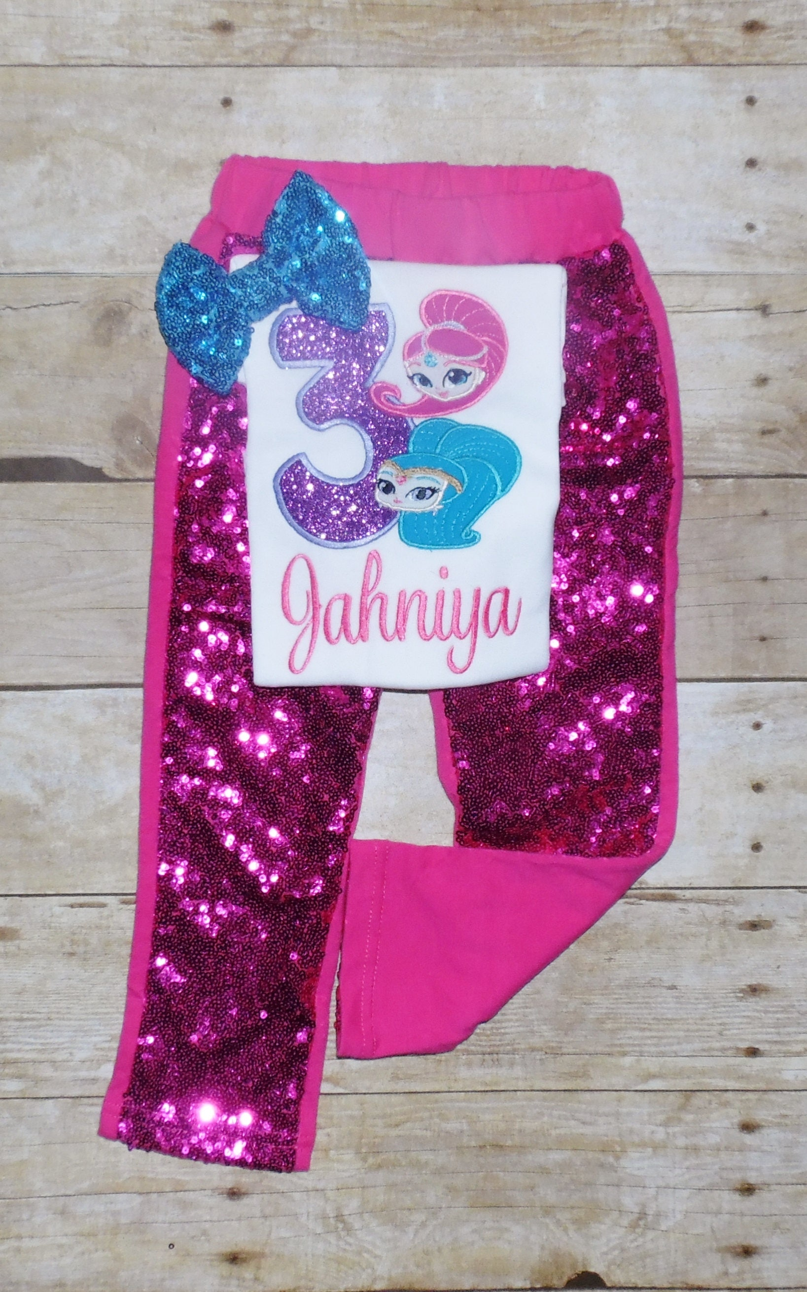 Shimmer And Shine Birthday Outfit Shirt Genie Tutu