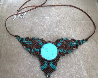 Turquoise & Brown Necklace