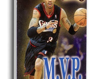 Allen Iverson 2001 NBA MVP Canvas Mega Ticket - Philadelphia 76ers