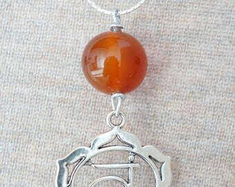 Necklace chakra stone matching Chakra sacral - carnelian