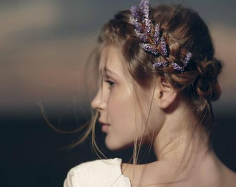 lavender hair accessory Purple wedding bohemian hair accessory