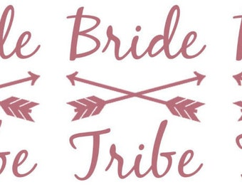Ready to ship: Single Tattoo Rose Gold Bride Tribe Bachelorette tattoos, Bridal party tattoo, bridal flash tattoo, bachelorette tattoo