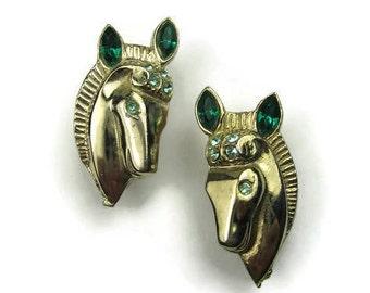 Coro Rhinestone Horse Scatter Pins