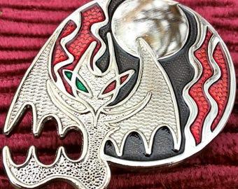 Skull Illusion enamel pin in coffin box