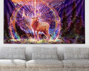Elk Song Tapestry by Simon Haiduk