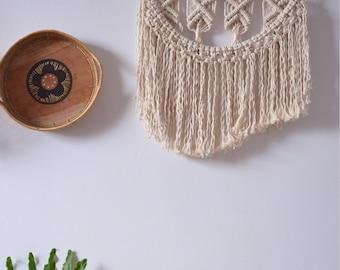 Macrame wall hanging, large headboard macrame, macrame weaving, bohemian decor, macrame wall hanging, driftwood, surf decor, egg shell