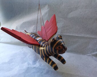 Flying Cat Wall Hang