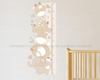 Kids Growth Chart Wall decals Baby Nursery Room Decor Growth Tino and friends