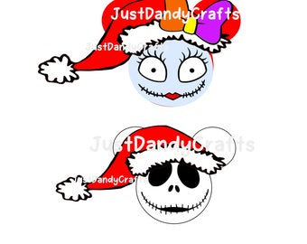 Nightmare Before Christmas Santa Mickey SVG Cut file for Silhouette and Cricut machines
