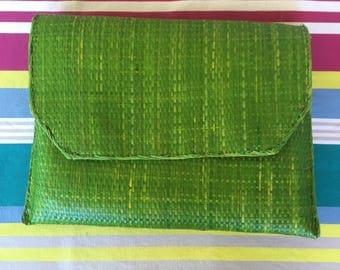 Raffia straw clutch bag, handbag, hobo, market bag, straw bag, boho bag, crochet bag, vintage bag, market bag, crochet bag, rattan bag, gift