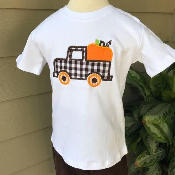 Pumpkin Truck Shirt Set - Add a name or monogram for FREE