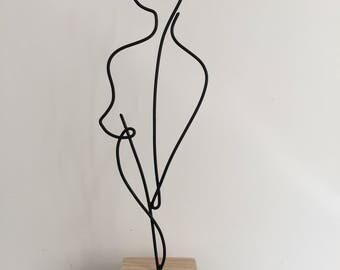 astrological sign of Virgo, wire sculpture