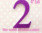 2nd birthday cake topper - large glitter number - cake smash props - giant number 2 cake topper - purple, gold, silver, baby pink, blue