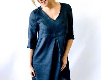Style Arc Sewing Pattern - Patricia Rose Dress - Sizes 10, 12, 14 - Women's V-neck Dress - PDF Sewing Pattern