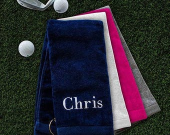 Embroidered Name Golf Towel, Embroidered Golf Towel, Personalized Golf Towel